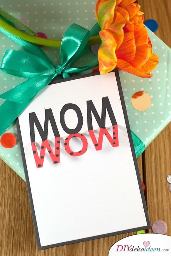 Card - personalized gift for mom