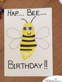 Bienen-Geburtstagskarte - Geschenkideen