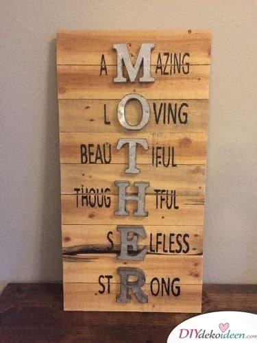Mamas gute Eigenschaften Bild - Geschenke zur Geburt für die Mutter
