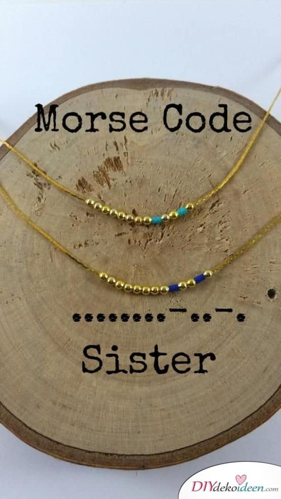 Morse Code Chains - Gifts for the Sister