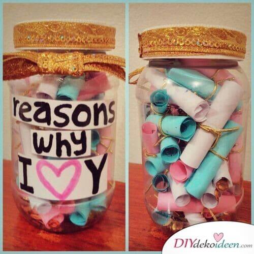 Gründe, warum ich dich lieb hab- Geschenke für die Schwester