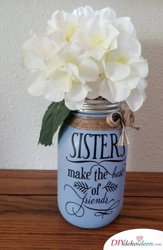 DIY Vase - Sister's Birthday Gift