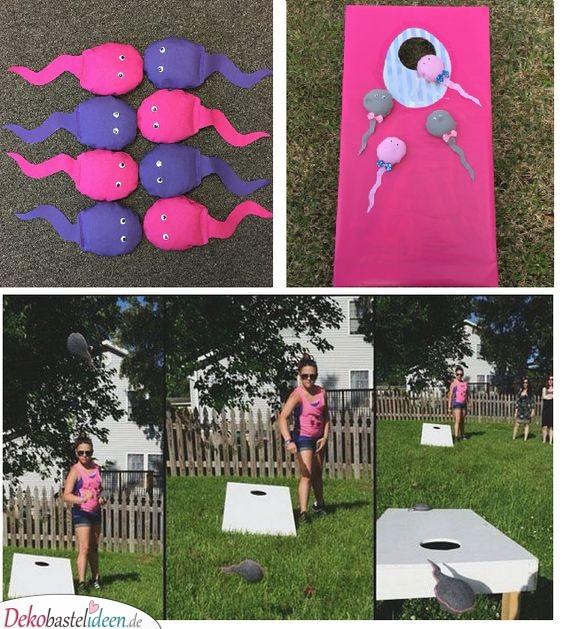 Sperma-Werfen – Partyspiel für die Baby Shower