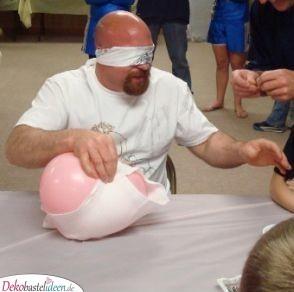 Wickel den Ballon – Party Spiel für die Babyparty
