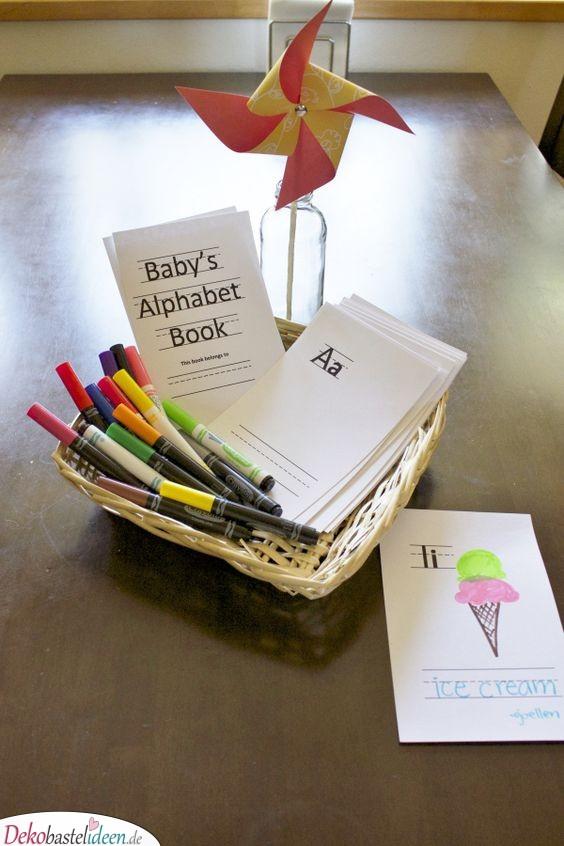 Babys Alphabetbuch - Spiele für Babyparty