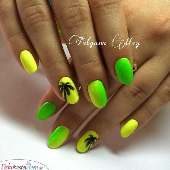 Palmen - sommerliche Nägel