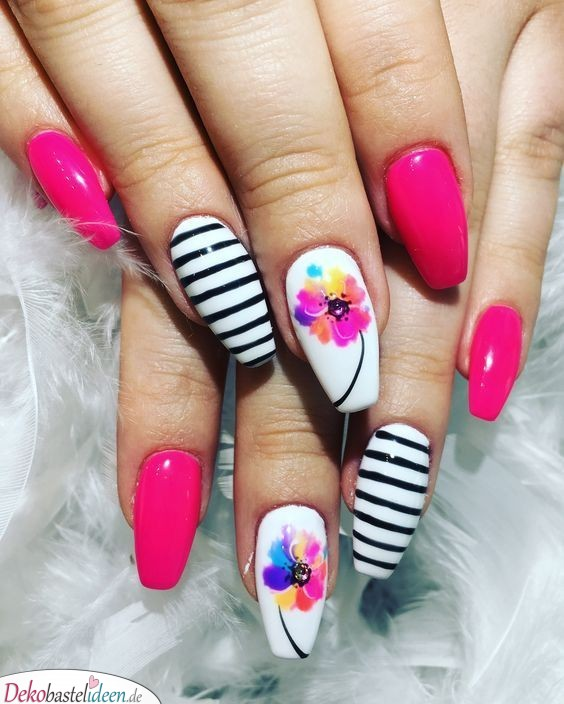 Color Nail Design for Summer