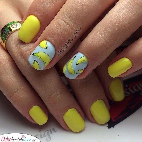 Nail Summer - Banana - Design