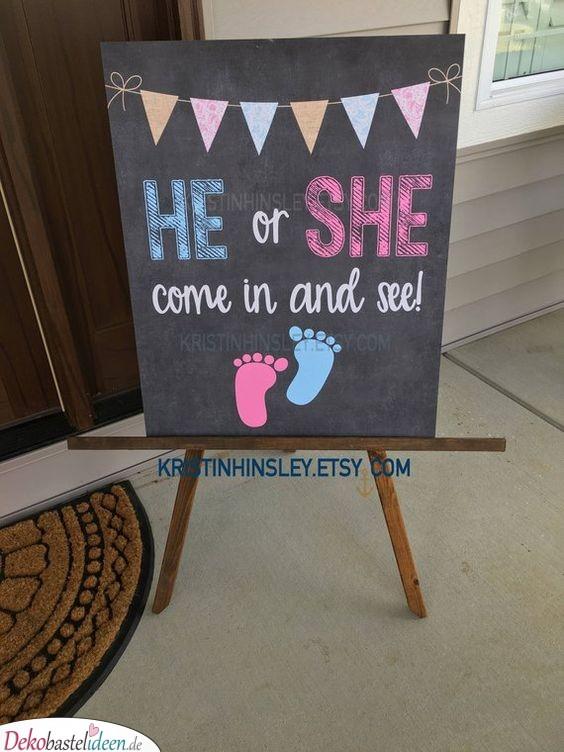 Schild zur Babyparty