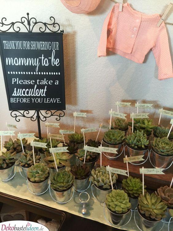 Ideen für Babyparty - Gastgeschenke