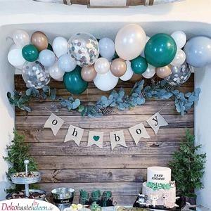 Wanddeko mit Luftballons