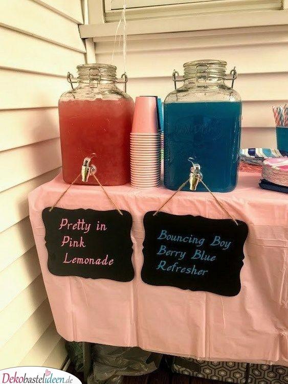 Mädchen und Jungen Limonade - Baby Shower Party Ideen