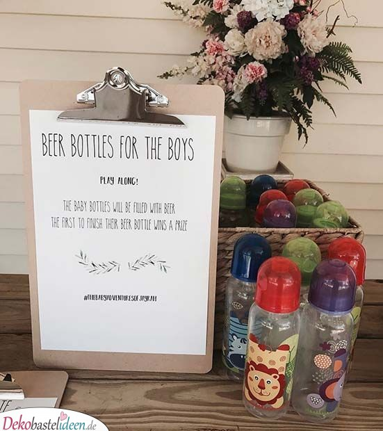 Beer Key Bottles for Men - Ideas for Baby Party