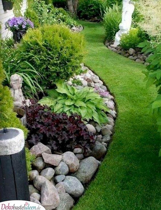 Gartengestaltung Ideen Bilder – grüner Rasenweg