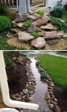 Regenrinnen - Vorgarten gestalten