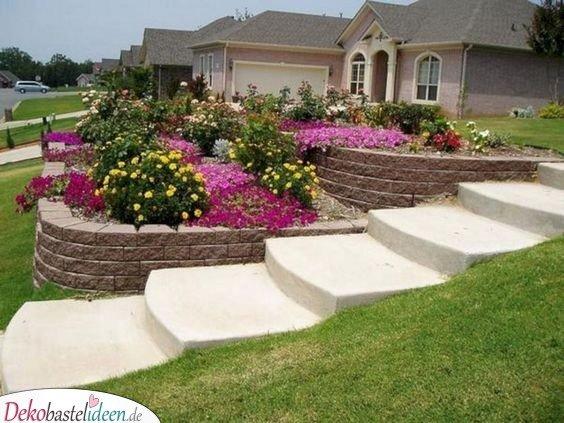 Garten gestalten Ideen – Blumenterrassen