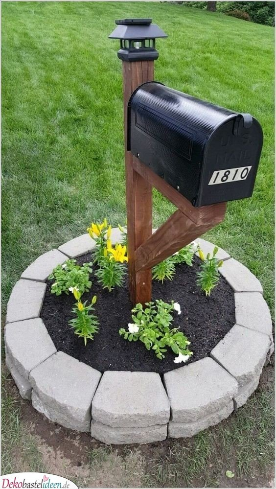 Garden Shaped Ideas - Letter Boxes with Flowers
