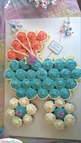 Ein Kinderwagen aus Cupcakes – tolle Kuchenideen