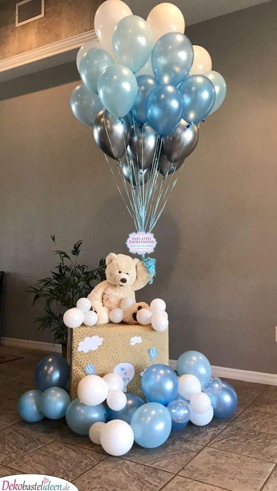 Baby Shower Deko – Fliegender Teddybär