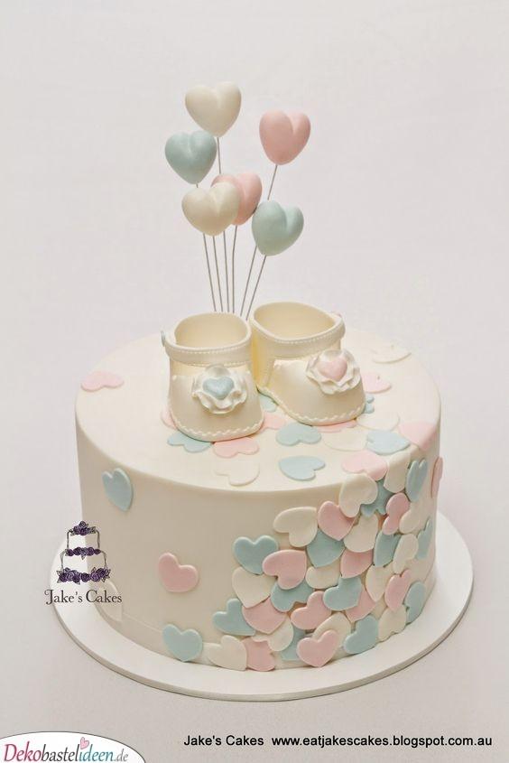 Herzchen und Schühchen - Babyparty Torte