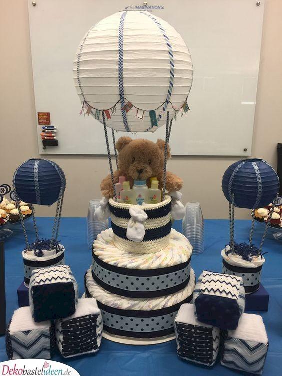 Heißluftballon-Torte für die Baby Shower