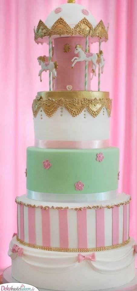 Süßes Karussell - Babyparty Torte Ideen
