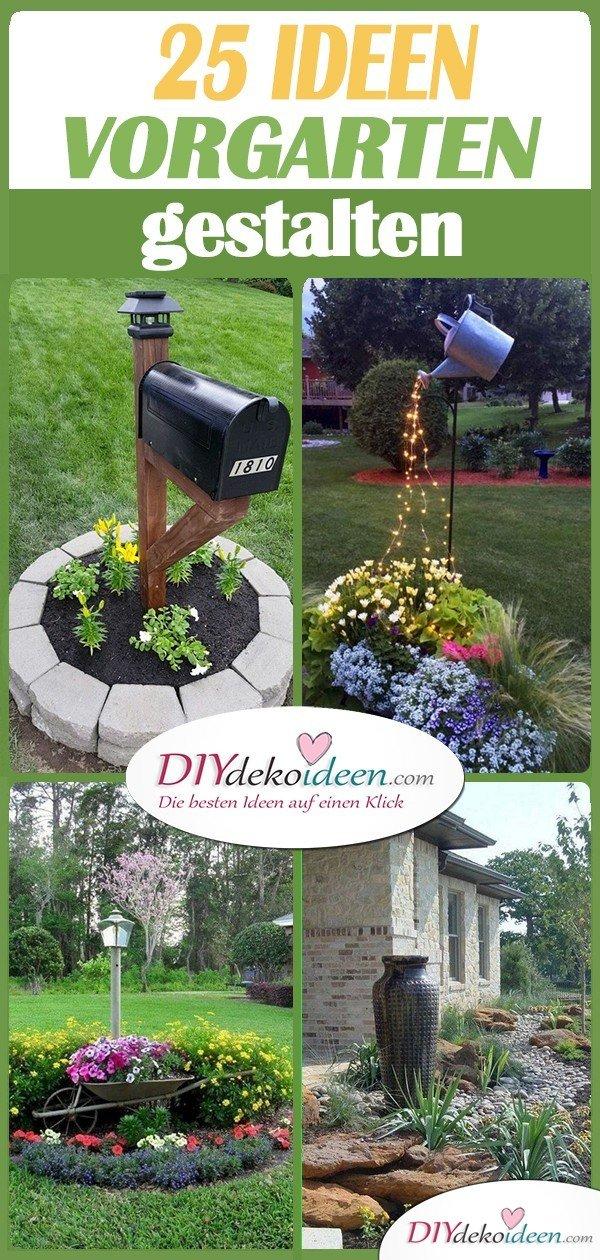 Vorgarten gestalten - 7 schöne Ideen für eure Vorgärten