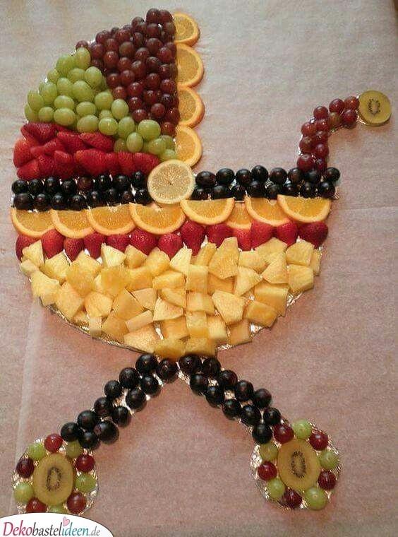 Obst-Kinderwagen - Babyparty Essen