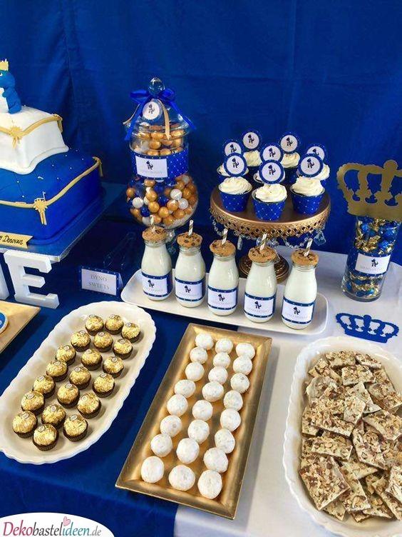Blau und Gold – Royale Baby Shower