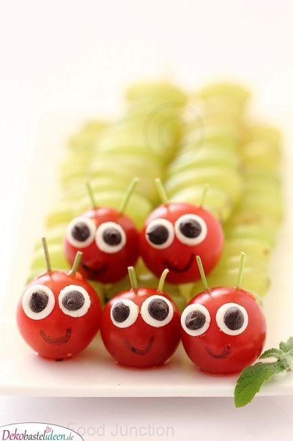 Süße Raupen – Gesundes Babyparty Essen