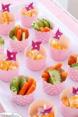 Gesunde Snacks - Essen für Babyparty