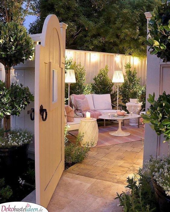 Eine schöne Terrasse für Gäste - Garten gestalten Ideen