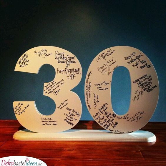 Geburtstagsgeschenk zum 30 selber basteln
