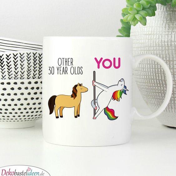 Süßes und witziges Geburtstagsgeschenk – Kaffeetasse mit Einhorn