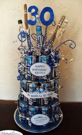 Eine großartige Geburtstagstorte - Geschenkideen zum 30. Geburtstag