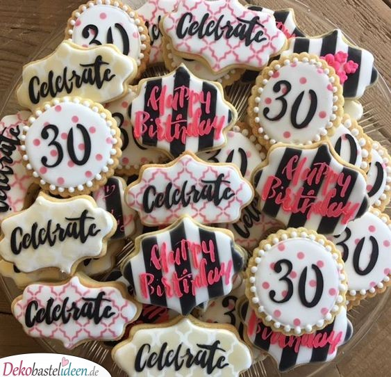 Zuckerplätzchen - Geschenke zum 30. Geburtstag