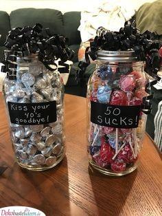 Kreativ Süßigkeiten verpacken - Originelle Geschenke zum 50. Geburtstag