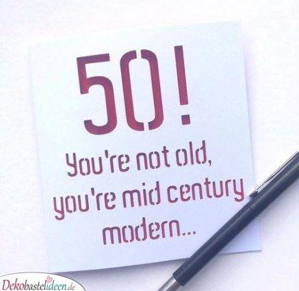 Noch nicht zu alt – Geburtstagskarten zum 50.
