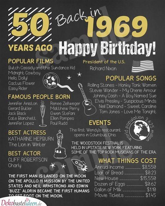 Vor 50 Jahren - Geschenke zum 50.