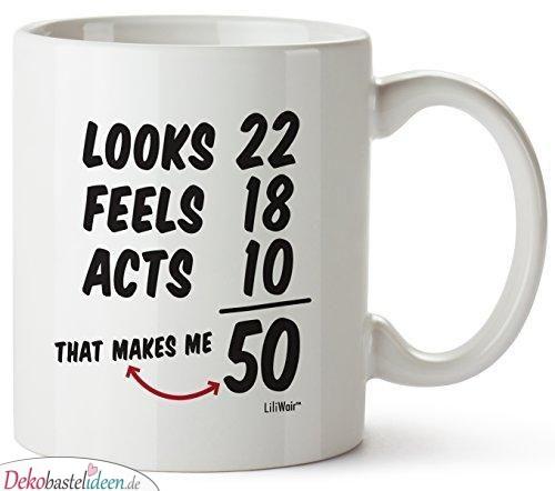 Originelle Geschenke zum 50. Geburtstag – Kaffeetasse