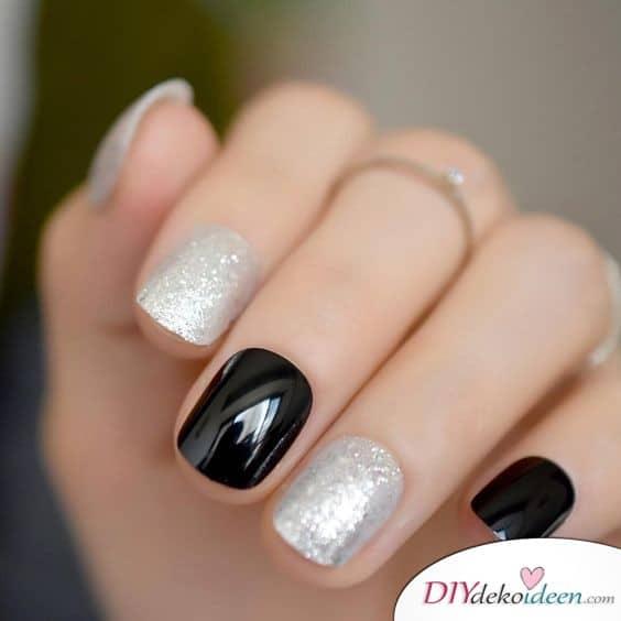 Schwarz und Silber – ein frischer Look