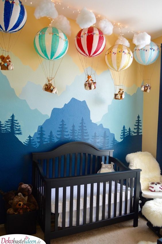 Kinderzimmer Wall Decal - Hot Air Balloons