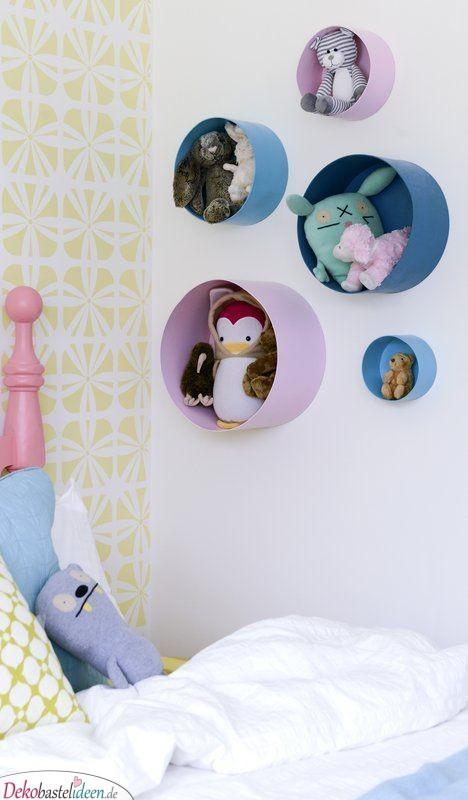 Stauraum für die Plüschtiere – Süße Kinderzimmer Ideen für kleine Zimmer