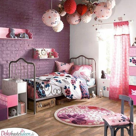 Rosa und Lila - Kinderzimmer Deko