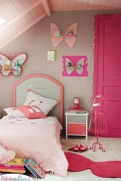 Rosa Schmetterlinge - Mädchenzimmer Ideen
