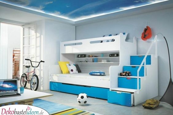Blue and White - Simple and Simple Kids Room Ideas for Small Rooms