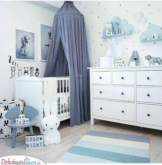 Wunderschönes Blau - Babyzimmer gestalten