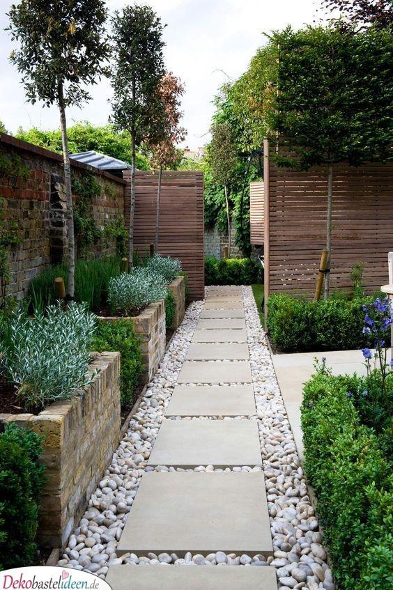Wunderschöne Trittsteine - moderne Gartengestaltung