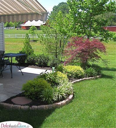 Garten gestalten – Büsche um die Terrasse pflanzen