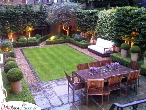 Ein eleganter Garten – wunderschöne Garten gestalten Ideen
